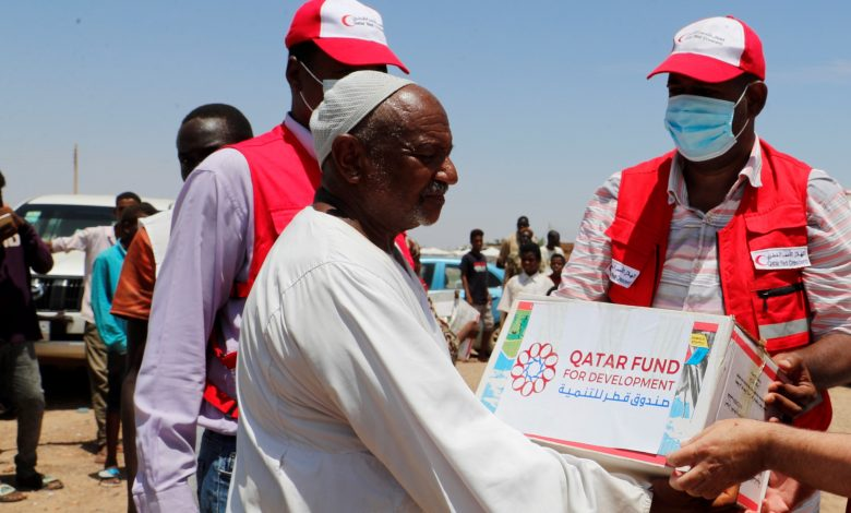 QRCS Provides Humanitarian Aid to Families Affected by Floods in Sudan