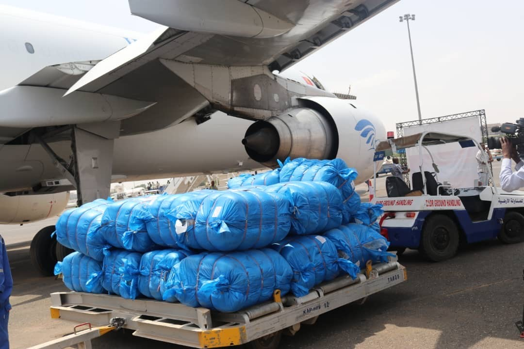 "Third Qatari Aid Plane Arrives in Khartoum within ""Peace for Sudan"" Campaign Airlift"