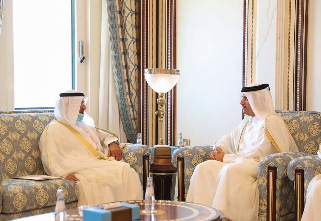 Minister of Foreign Affairs Meets GCC Secretary General