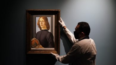 Photo of Botticelli's painting for $80 million