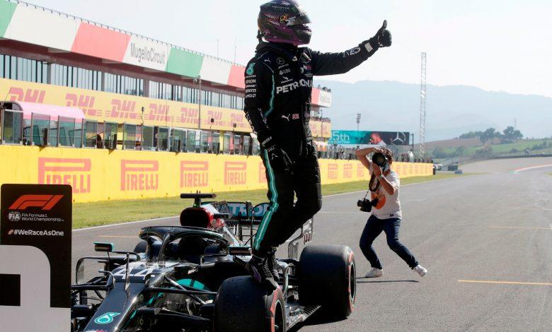 Hamilton Claims Tuscan Grand Prix Pole Position