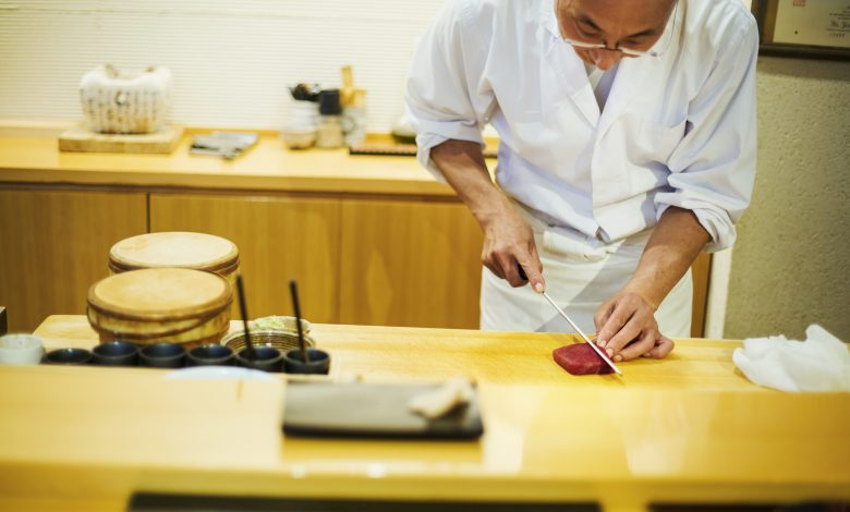 A sushi restaurant in Japan uses bodybuilders to deliver orders