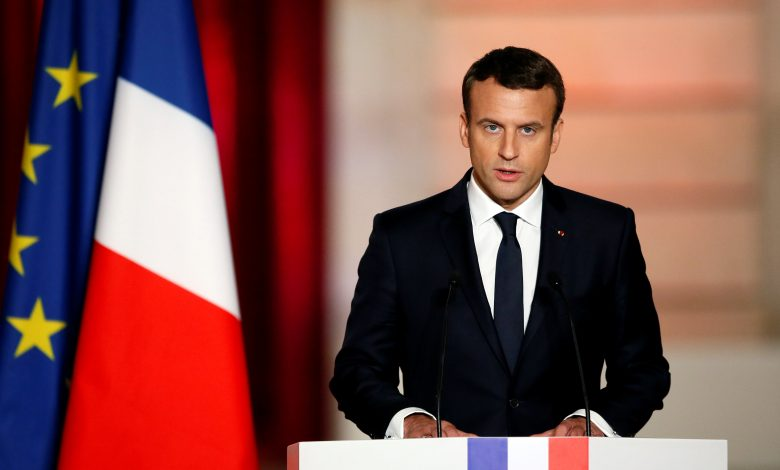 """French president holds Lebanon leaders responsible for failure to form a government, gives them """"one last chance"""""""