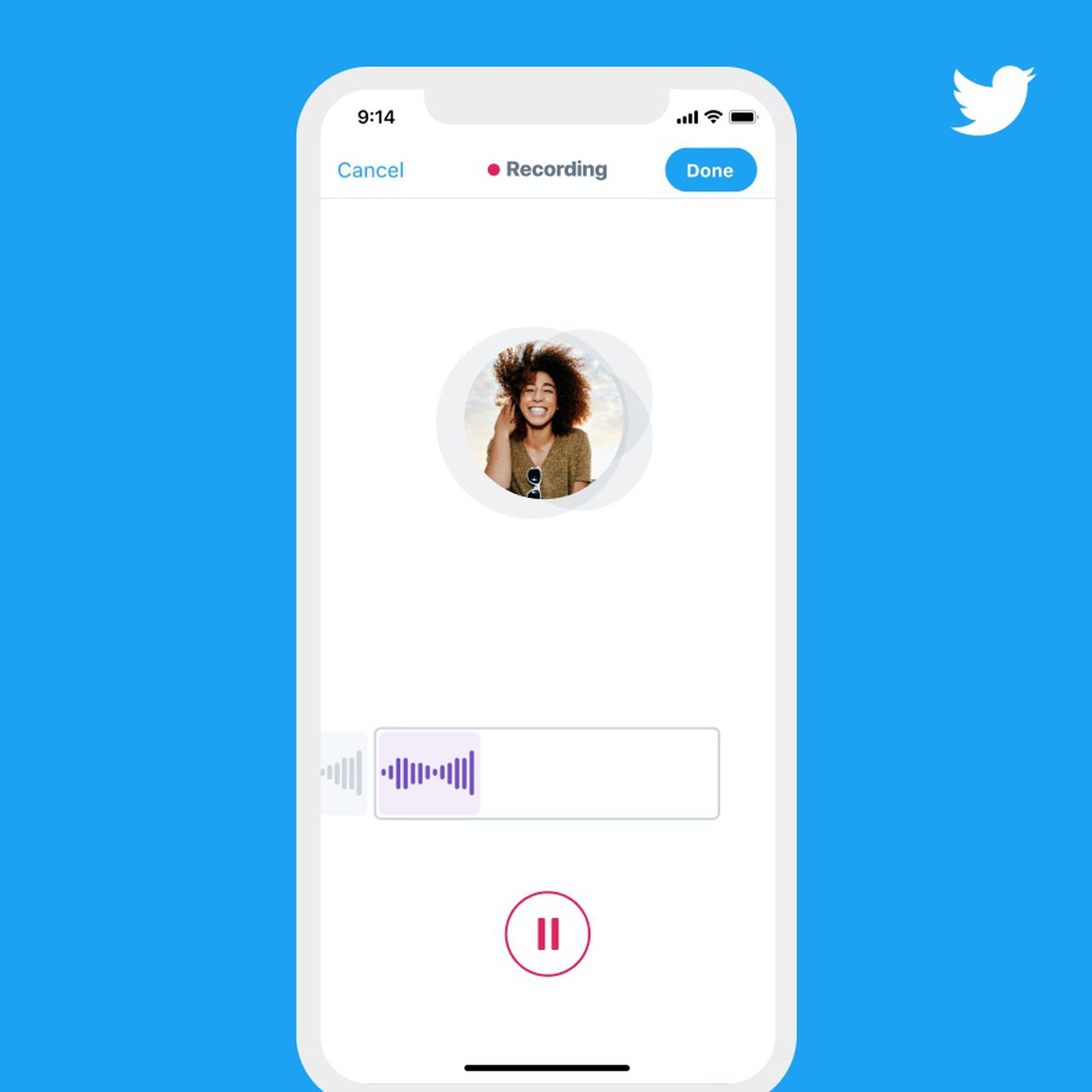 Twitter adds voice messaging service