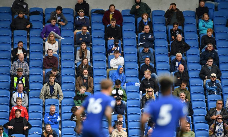Suspension of the return of fans to English stadiums