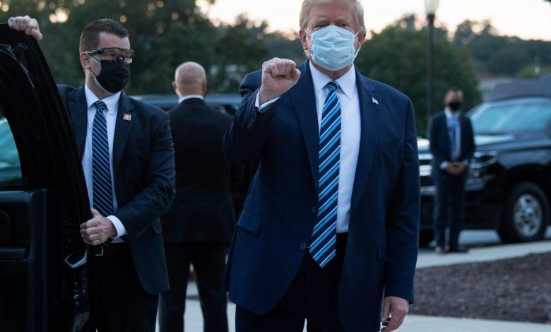 Trump Says He is Free of Coronavirus