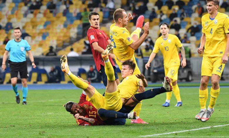 Ukraine Beat Spain in Nations League