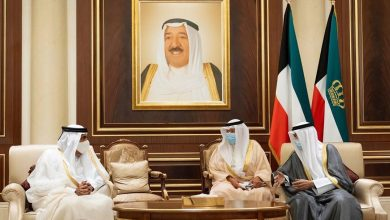 Photo of HH The Father Amir Offers Condolences to Amir of Kuwait