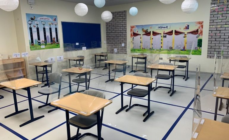 Texas A&M at Qatar develops protective shield for student desks in Qatar's schools