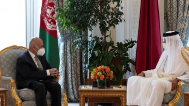 Amir and Afghan President Hold Official Talks