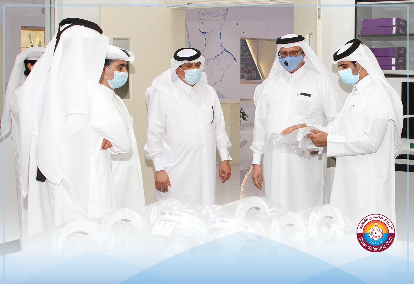 Qatar Scientific Club Manufactures 6 Thousand Face Shields for HMC and Oryx Staff