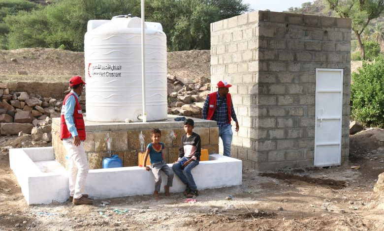 QRCS Contributes to Project to Rehabilitate, Dig Wells in Yemen