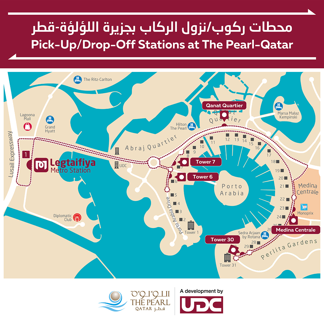 Five climatised Metrolink bus stops opened in The Pearl-Qatar