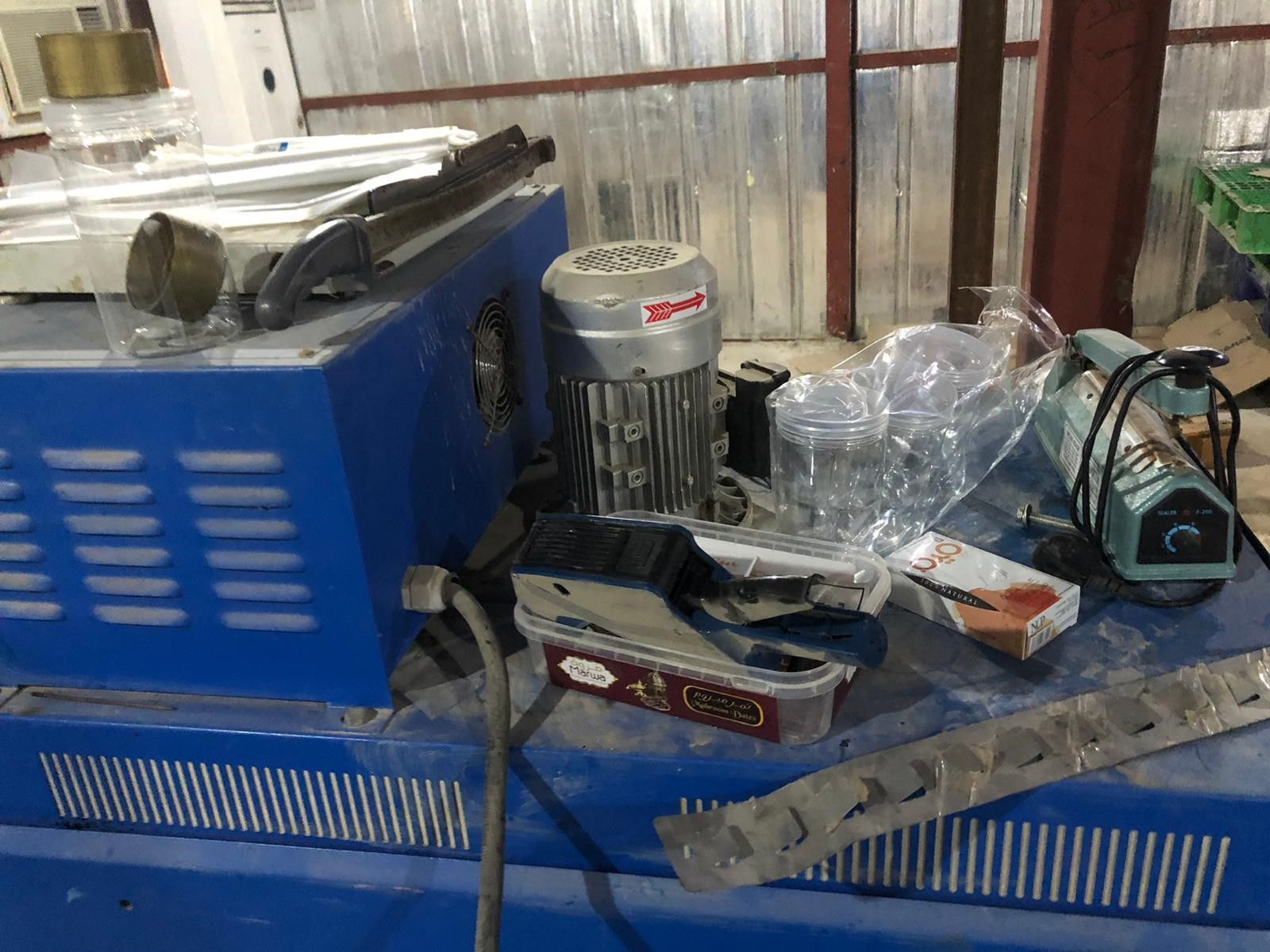 Machinery used to change expiry dates seized from food store