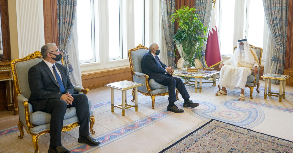 Amir Meets Libyan Foreign and Interior Ministers