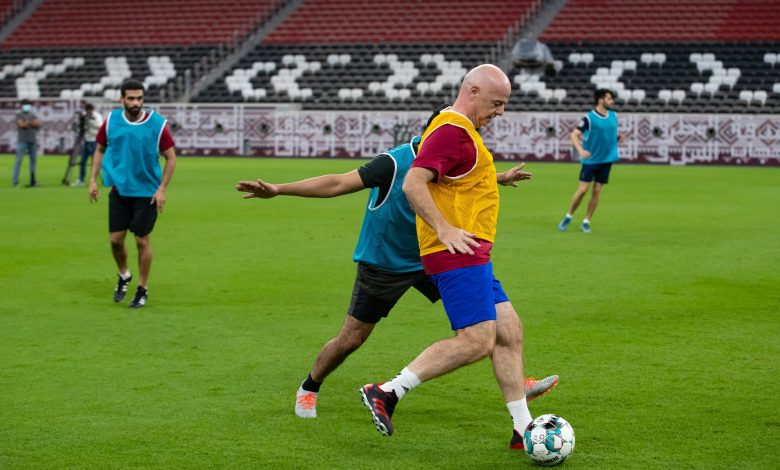 FIFA President plays football at Al Bayt Stadium; praises Qatar's World Cup preparations