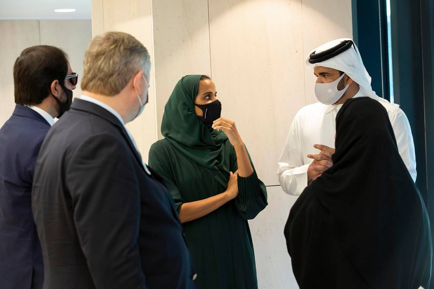 Sheikha Moza Meets with Evaluation Committee of Olympic Council of Asia