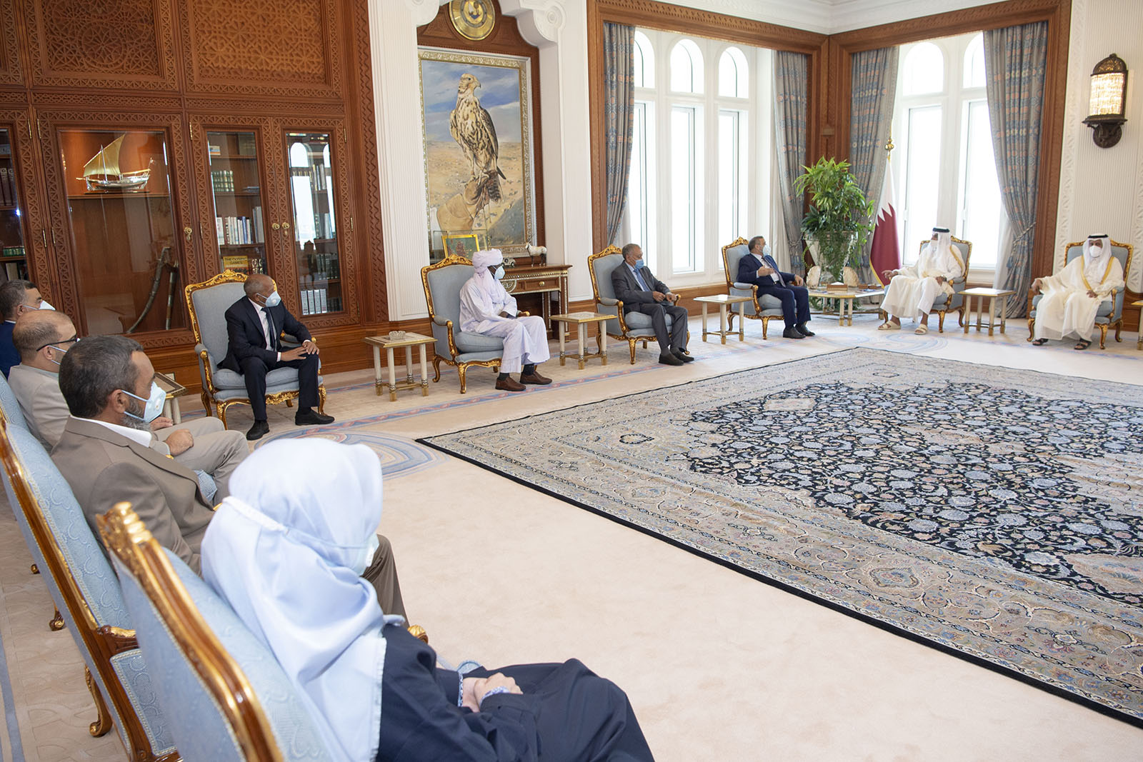 Amir Meets Chairman of High Council of State of Libya