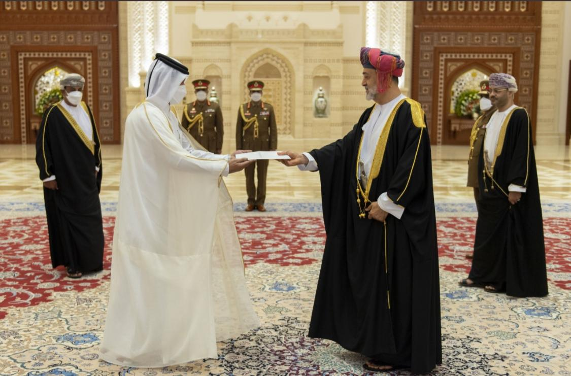 Sultan of Oman Receives Credentials of Qatari Ambassador