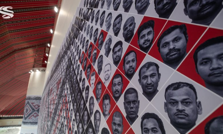 Al Bayt Stadium: Qatar unveils mural paying tribute to the workers