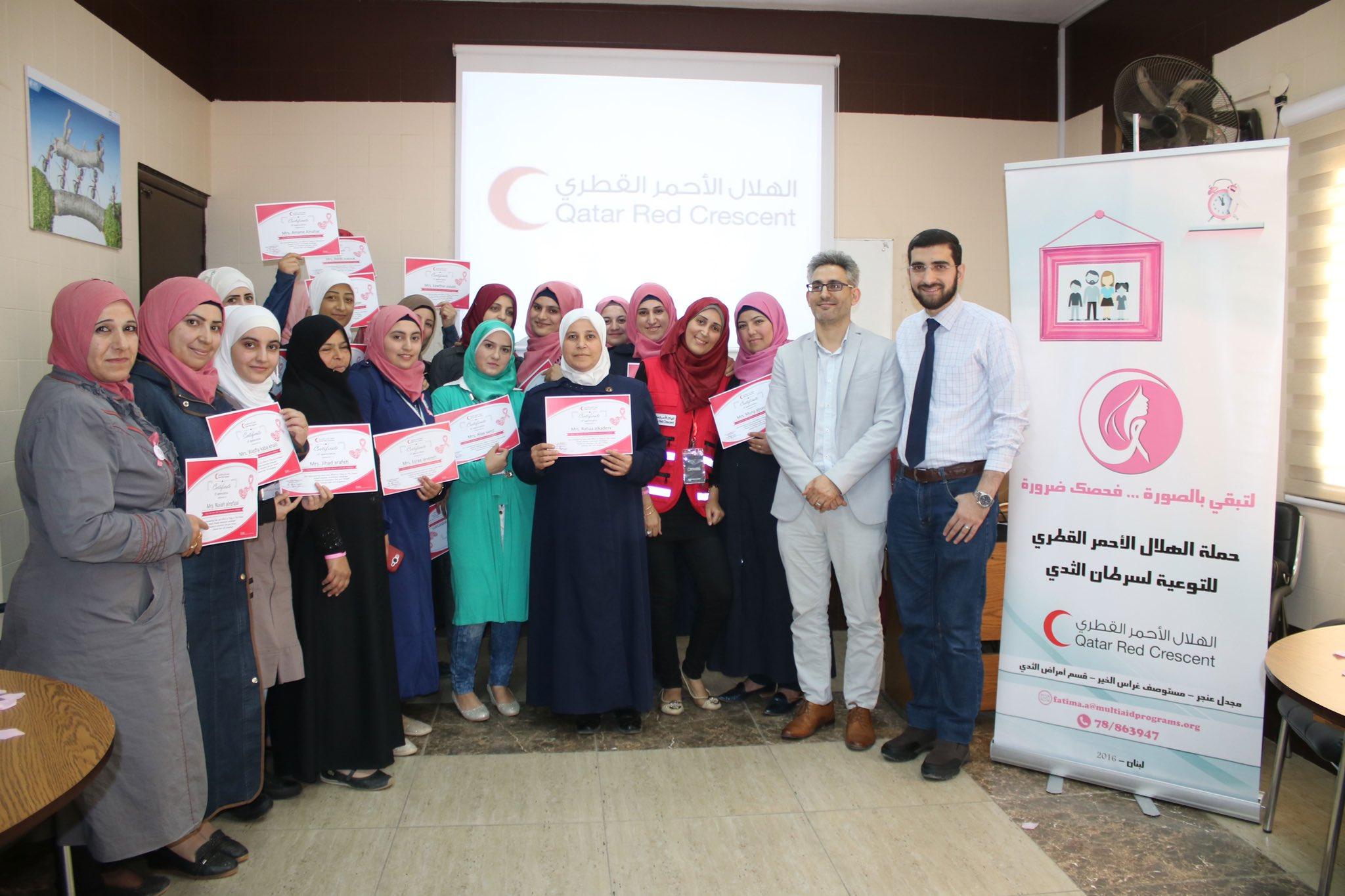 QRCS Promotes Public Awareness Against Breast Cancer