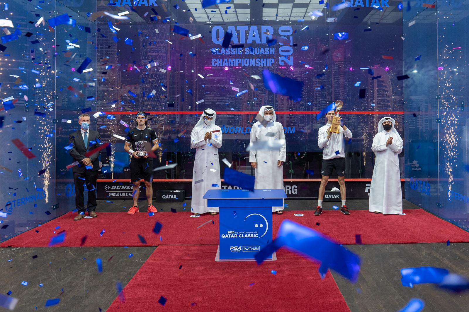 Sheikh Joaan Crowns Egypt's Ali Farag Champion of Qatar Classic 2020