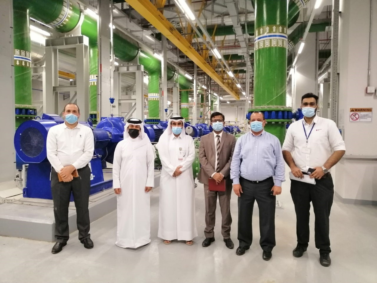 Kahramaa Delegation Inspects District Cooling Plant Project for Al Bayt Stadium