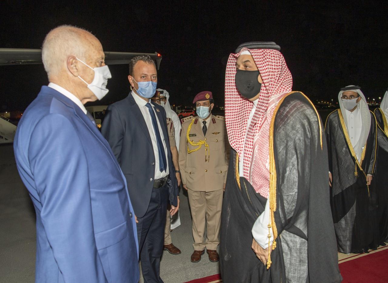 Tunisian President Arrives in Doha