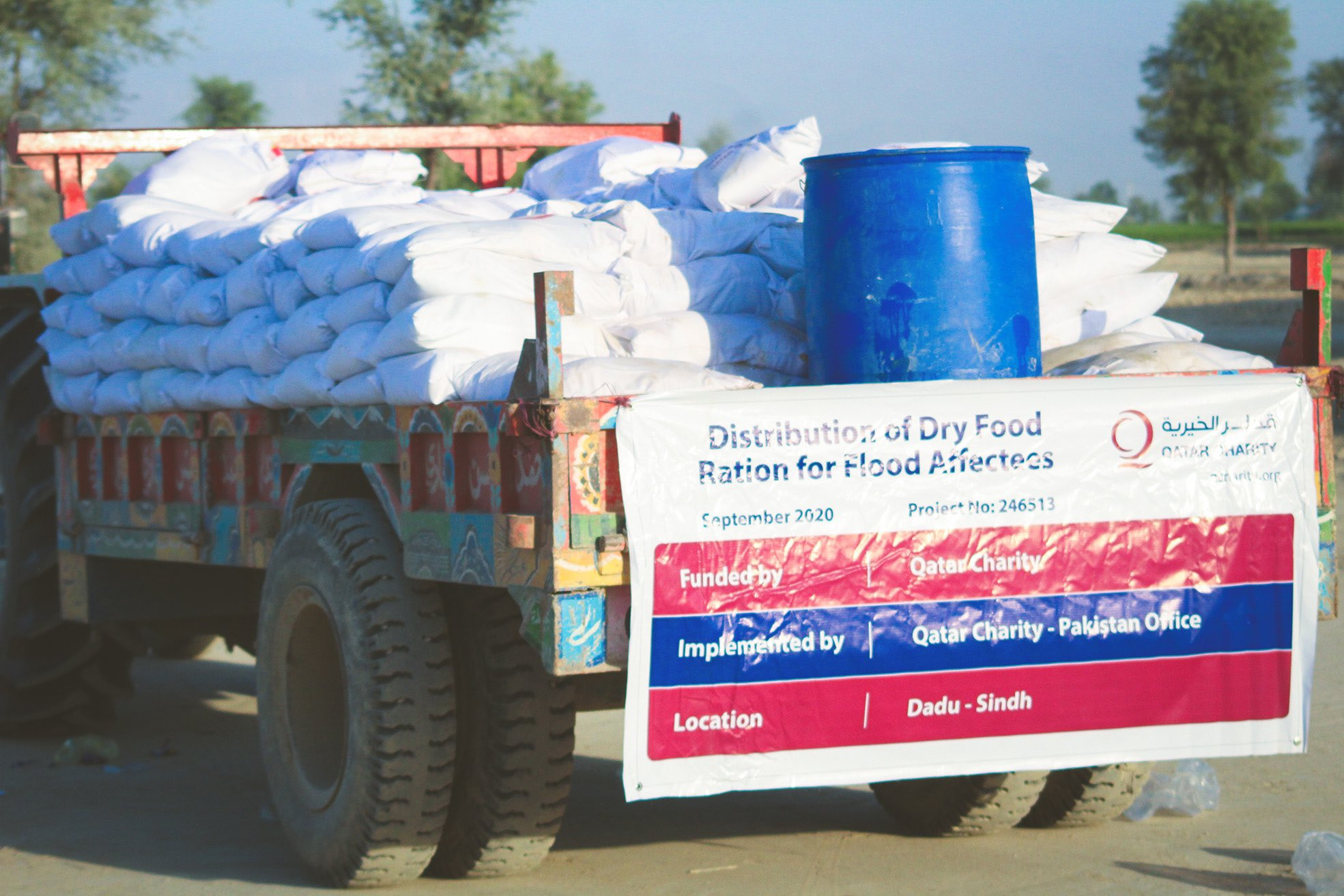 Qatar Charity Delivers Aid to People Affected by Floods in Pakistan