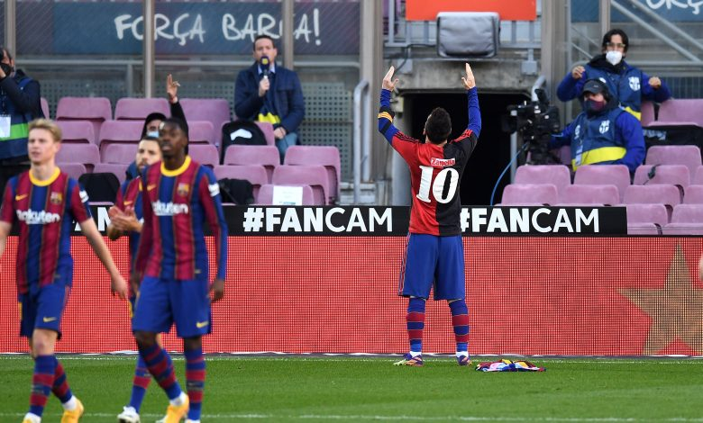 Messi salutes Maradona as Barca trounce Osasuna