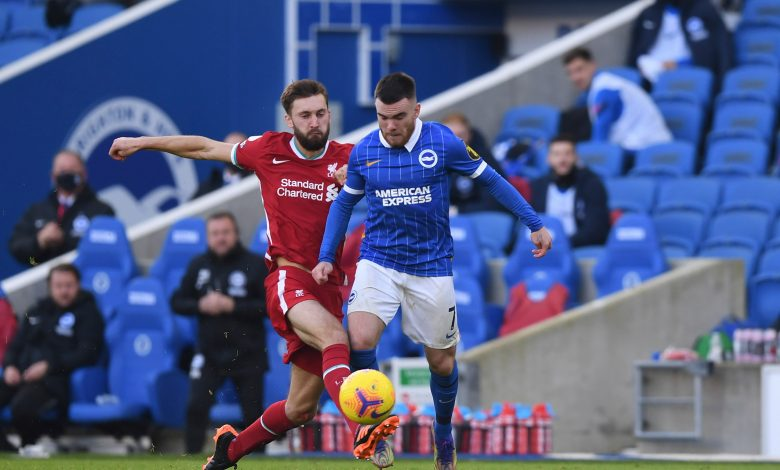 Brighton snatch late draw with Liverpool