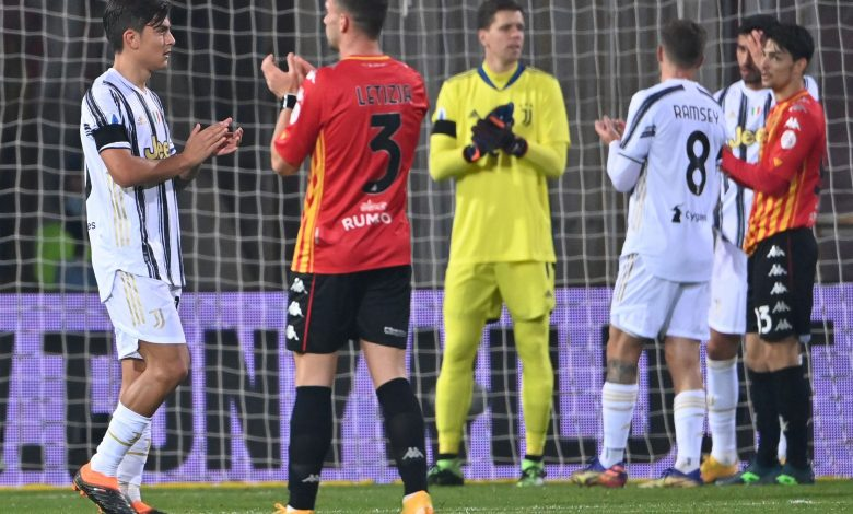 Juventus held to a draw by modest Benevento