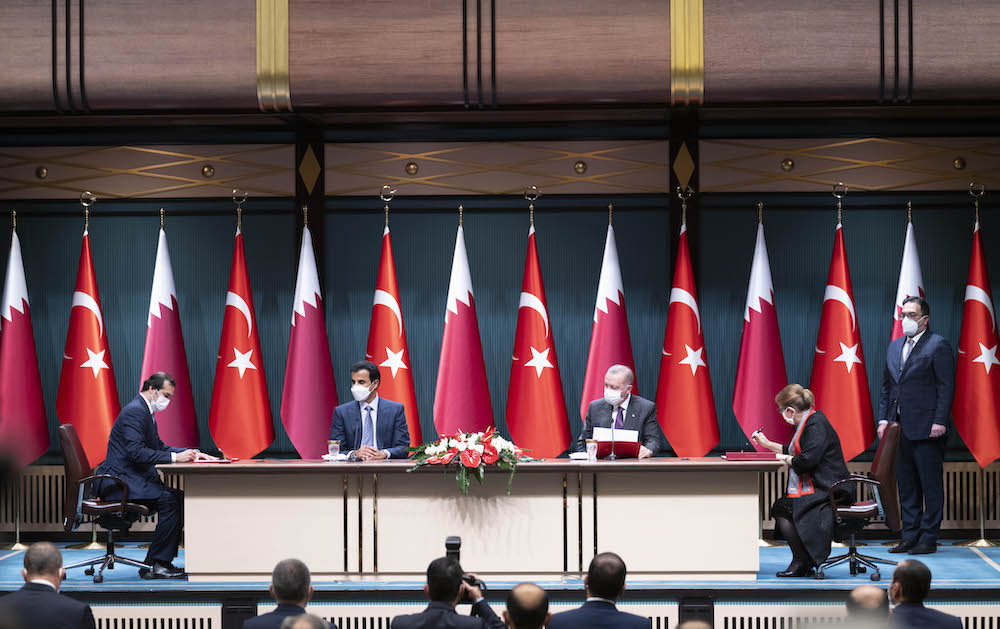 Amir and the Turkish President Discuss Enhancing Strategic Cooperation, Regional and International Issues