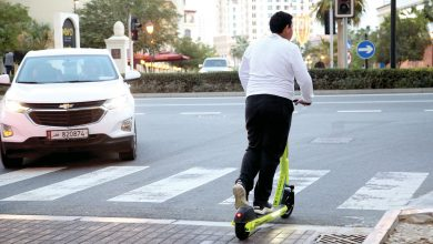 Children under 18 play tricks to ride e-scooters
