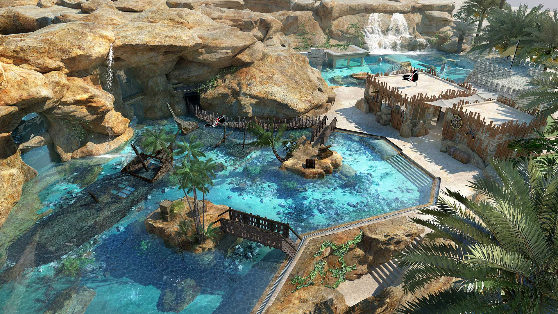 Salwa Beach: Partial opening of Desert Falls Water & Adventure Park