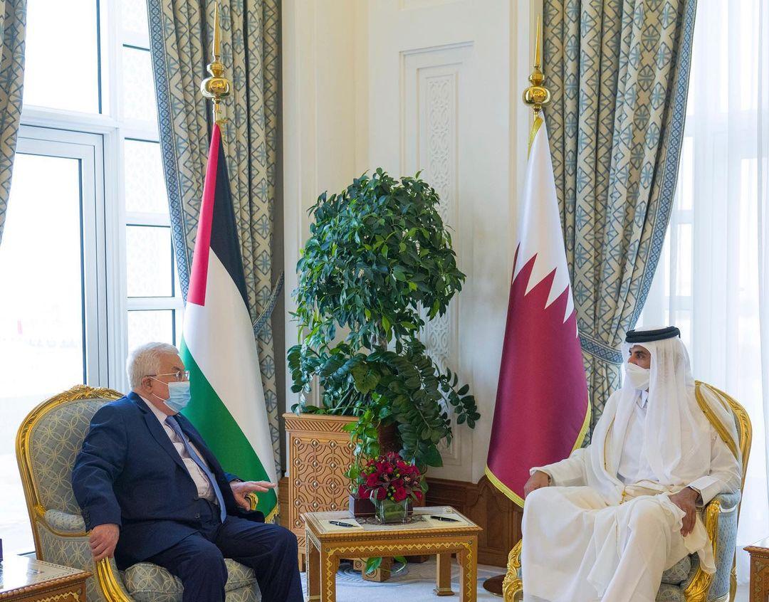 Amir, Palestinian President Discuss Developments in Palestine