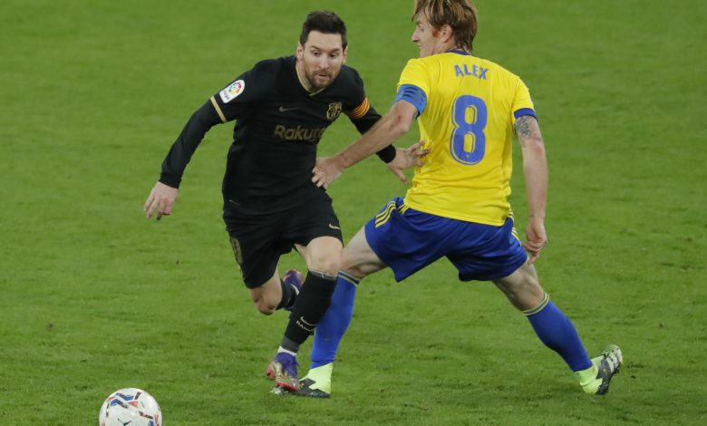 Barcelona slump to shock loss at Cadiz