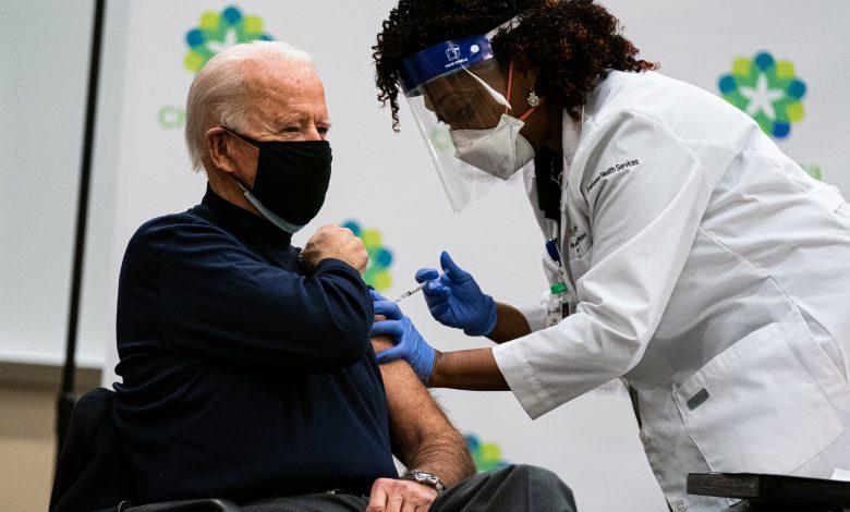 Joe Biden receives first dose of Pfizer's Covid-19 vaccine