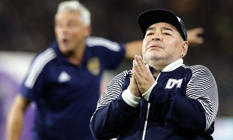 An audio message recorded by Maradona hours before his death