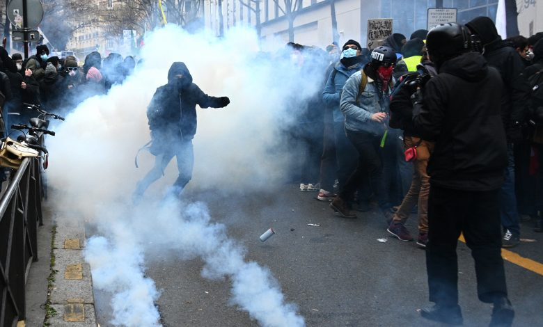 Over 60 Officers Injured in Protests against Security Law in France