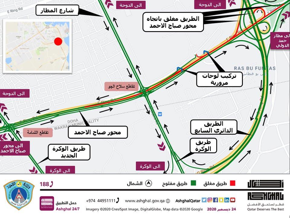 Temporary traffic closure on Sabah Al-Ahmad Corridor