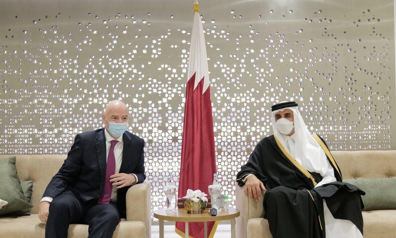HH the Amir Meets FIFA President