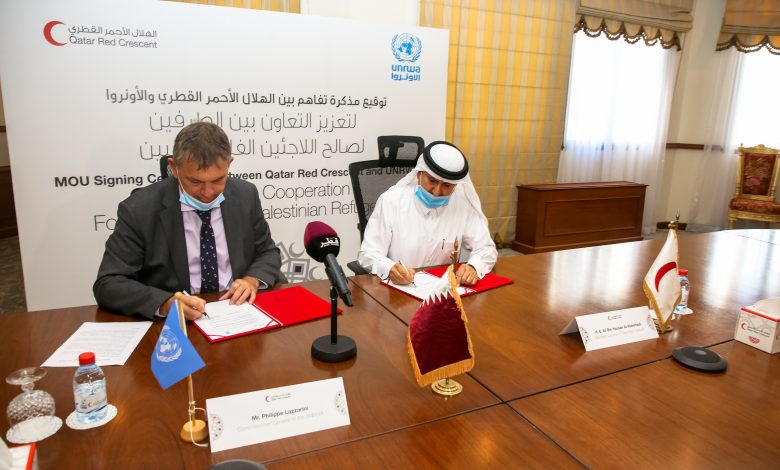 QRCS, UNRWA Launch Joint Humanitarian Campaign for Palestinians