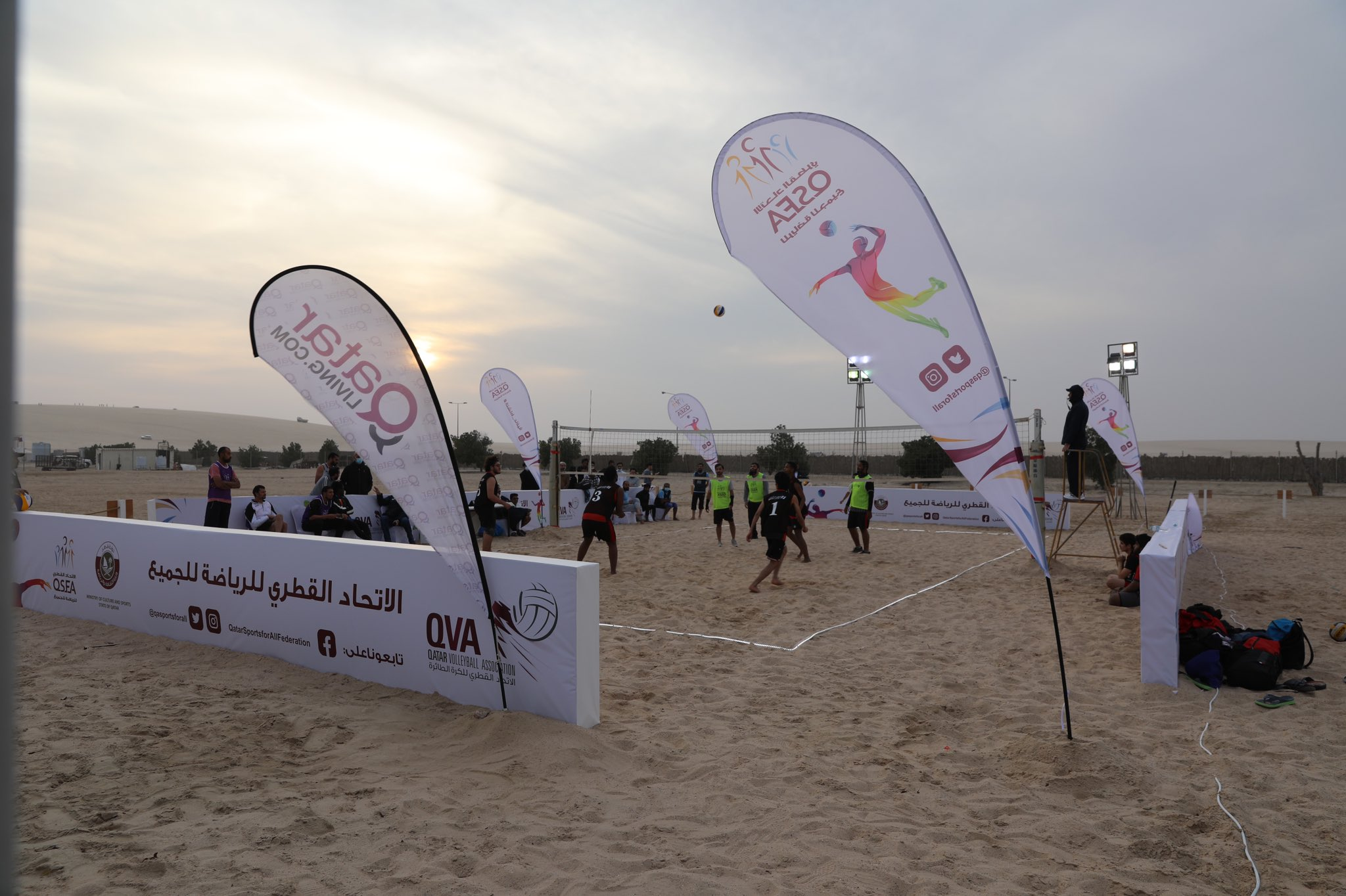 Minister of Culture and Sports Opens Beach Tournament at Sealine