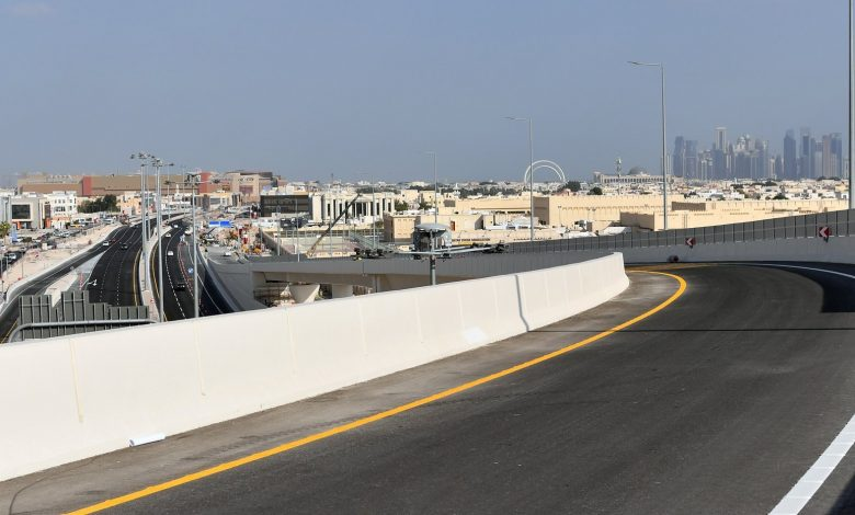 Ashghal opens the 7th bridge at Umm Lekhba intersection