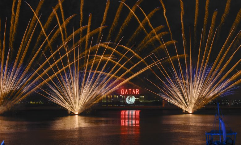 Qatar National Day Fireworks scheduling at Doha Corniche