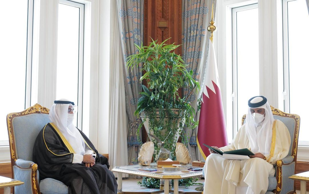 HH the Amir Receives Invitation from Custodian of the Two Holy Mosques to Attend GCC Summit