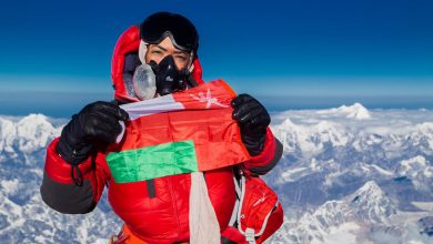 "The first Arab woman to reach the highest peak of ""Ama Dablam"" mountain"