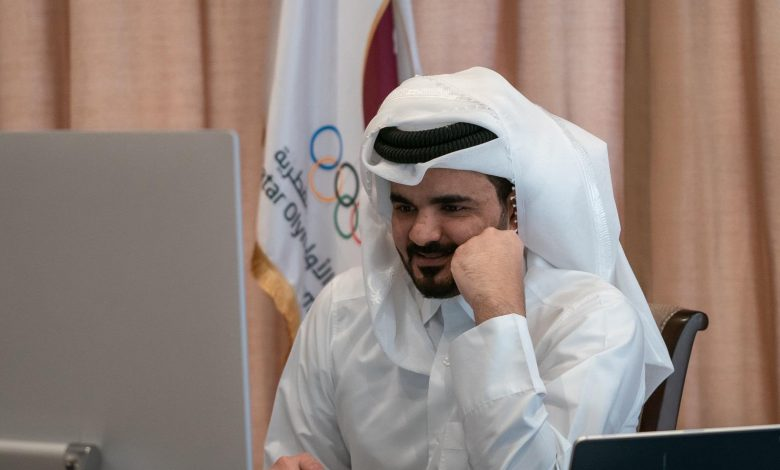 Sheikh Joaan Participates in an informal meeting of the IOC