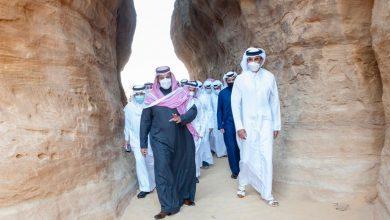 Amir, Saudi Crown Prince Tour Heritage Sites in Al-Ula